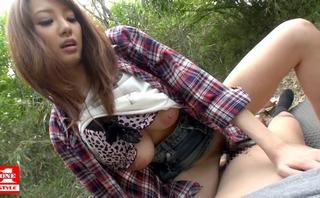 【宇都宮しをん】RIONとして再デビューした爆乳なS級美女の青姦セックス